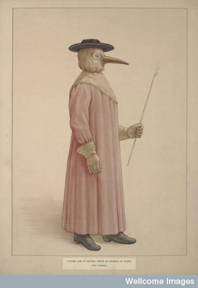 Black did the what plague doctors wear