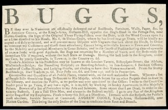 L0059152 Trade card for a 'Bug Destroyer' Andrew Cooke, London